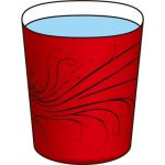 赤いコップ