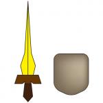 しょぼい剣と盾