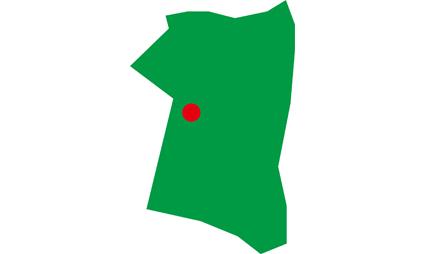 簡略化秋田県-県庁所在地付