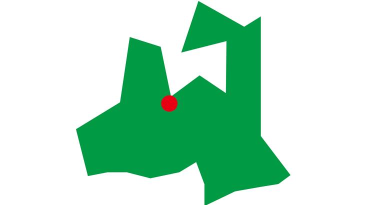 簡略化青森県-県庁所在地付