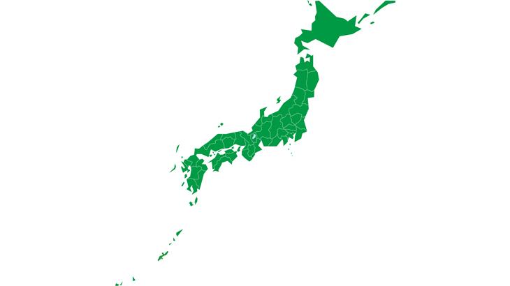 日本地図簡略化(Japan-Map)県境有