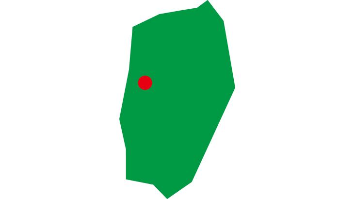 簡略化岩手県-県庁所在地付